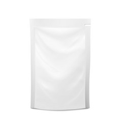 white blank plastic spouted pouch doypack vector image vector image