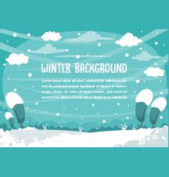 winter snowman background design vector image vector image
