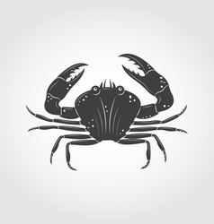 Crab black icon vector