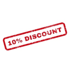 10 Percent Discount Text Rubber Stamp vector image