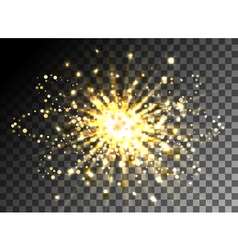 Christmas shining gold glitter burst vector