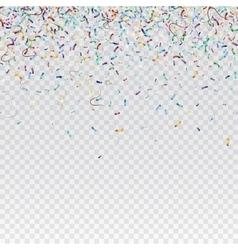 Flying christmas confetti anniversary celebration vector