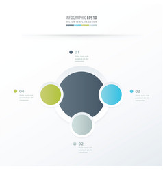 Circle overlap design green blue gray color vector