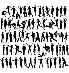 many people vector image