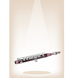 A symphonic piccolo on brown stage background vector