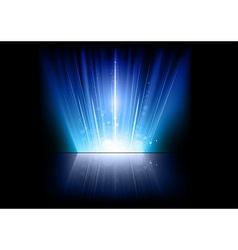 flare blue mirror vector image