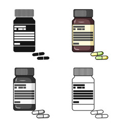 Bottle with pills of insulinpills for diabetes vector