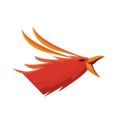 Phoenix bird with rising wings ancient symbol of vector