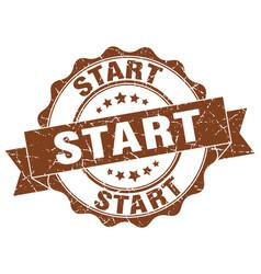 Start stamp sign seal vector