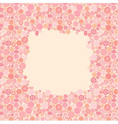 Frame made of buttons vector