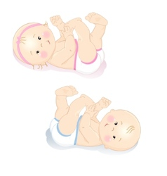 Little babiesl vector image