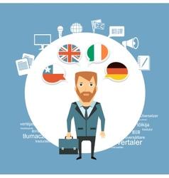 translator speak different languages vector image