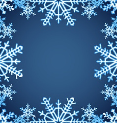 Christmas frame with snowflakes on the edges vector