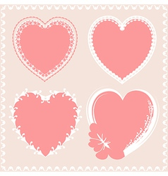 Valentines day hearts design vector
