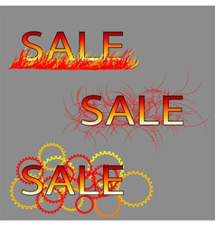 set of three sale text vector image