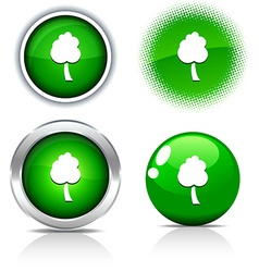 Tree buttons vector