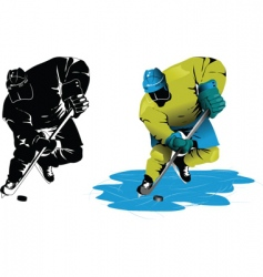 speed hockey vector image