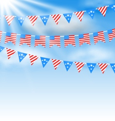 Bunting garlands vector