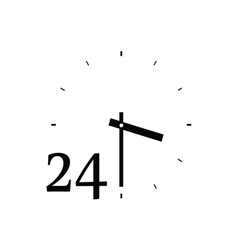 Clock cute black vector
