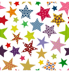 Bright colored stars seamless pattern vector