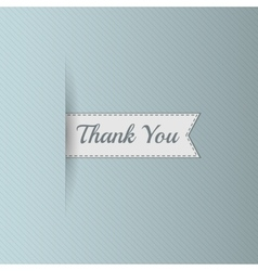 Realistic ribbon with thank you text vector