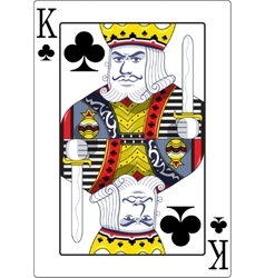 King of clubs original design vector