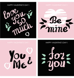 Cards for valentines day vector