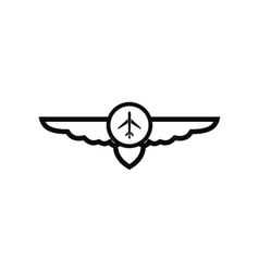 Sign of airplane with wings icon vector image