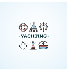 Nautical sea yachting concept vector