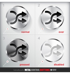 Set of four positions of circle metal shuffle vector