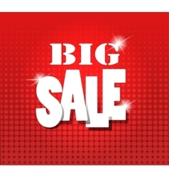Big sale over red grunge background vector