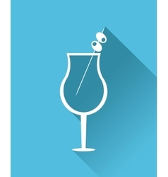 Cocktail drink icon in flat design style alcohol vector