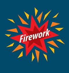Abstract colorful logo for fireworks vector