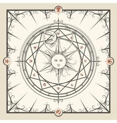 Alchemy magic circle vector