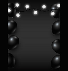 Black friday background design of balloon and vector