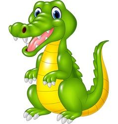 Cartoon cute crocodile vector