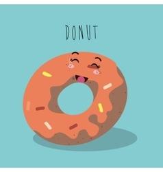 cartoon donut bakery design isolated vector image vector image