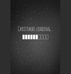 Christmas loading bar card or phone wallpaper vector