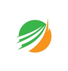Circle arrow business logo vector