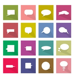 Collection of 16 thought bubbles icons banner vector