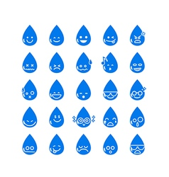 Collection of difference emoticon icon of water vector image vector image