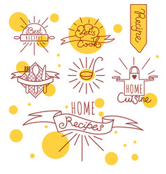 cooking badges set vector image vector image