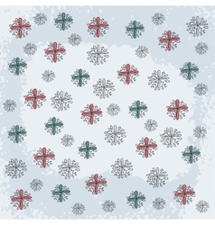 Doodle Snowflake Elements vector image vector image