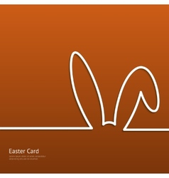 Easter background with silhouette line rabbit vector