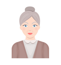 Elderly womanold age single icon in cartoon style vector
