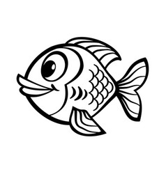Fish cartoon icon vector