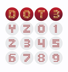 Font dot alphabet design vector