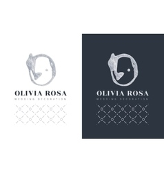 Luxury logo with a stylized letter O on black vector image vector image