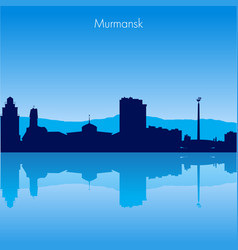 Murmansk skyline vector