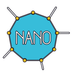 Nano molecular structure colorful silhouette with vector